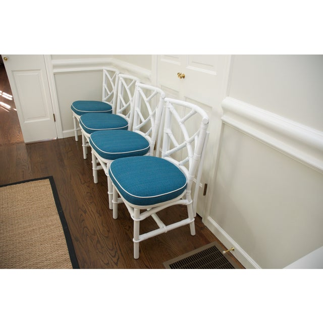 Refinished Ficks Reed Rattan Chairs - Set of 4 - Image 3 of 8