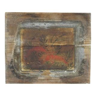 Crayfish Painting on Wood Panel