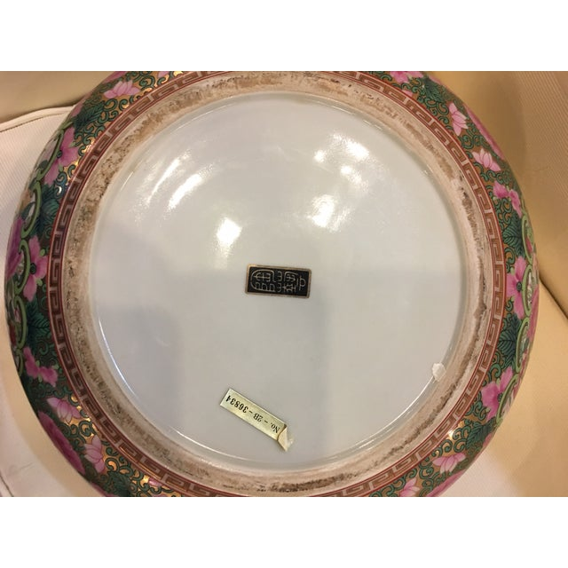 Chinese Canton Style Famille Rose Porcelain Punch Bowl - Image 7 of 7