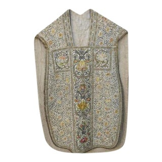 18th Century Italian Embroidered Vestment on Iron Stand