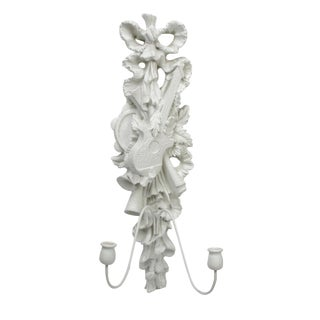 Florentine White Plaster Wall Sconce