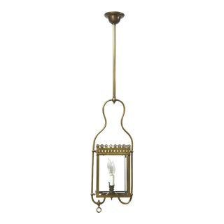 Square Harp Lantern With Scalloped Edge