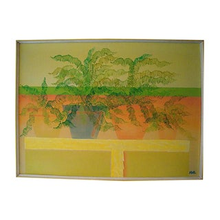 """42"""" Potted Ferns Painting, Harris Strong Gallery"""
