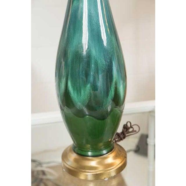 Mid-Century Ceramic Lamps - a Pair - Image 4 of 5