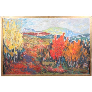 """Vintage """"Autumn Color"""" Oil Painting"""