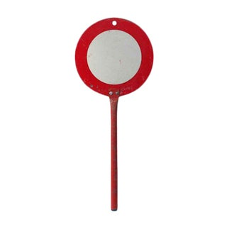 Petite French Handheld Traffic Sign