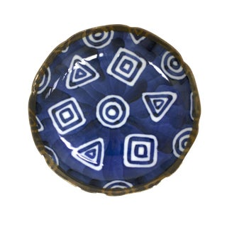 Japanese Indigo Hand-Painted Dish