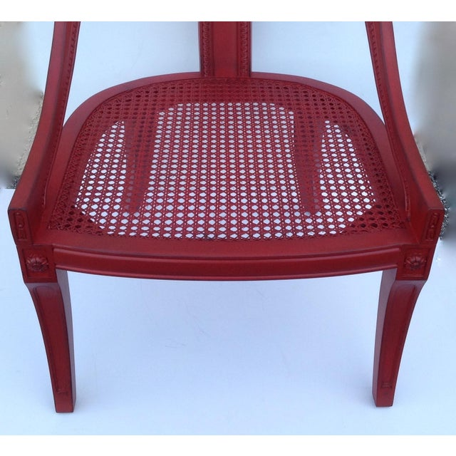 Michael Taylor for Baker Red Spoon Back Chair - Image 11 of 11