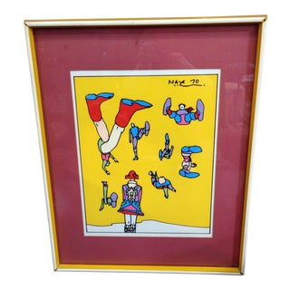 1970s Peter Max Silk Screen Print
