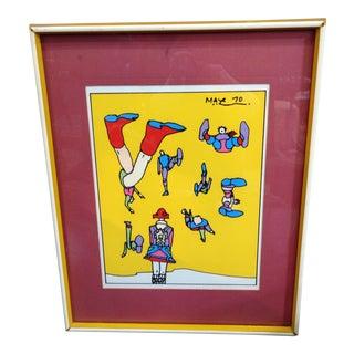 1970s Peter Max Silk Screen Print