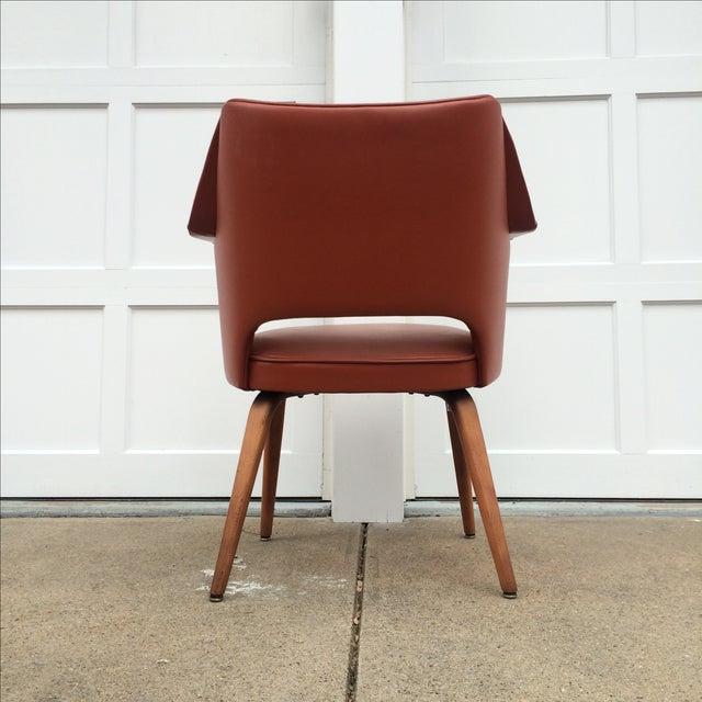 Thonet Mid-Century Burnt Orange Chairs - A Pair - Image 6 of 10