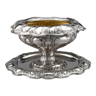 Gorham Silver Punch Bowl and under Plate