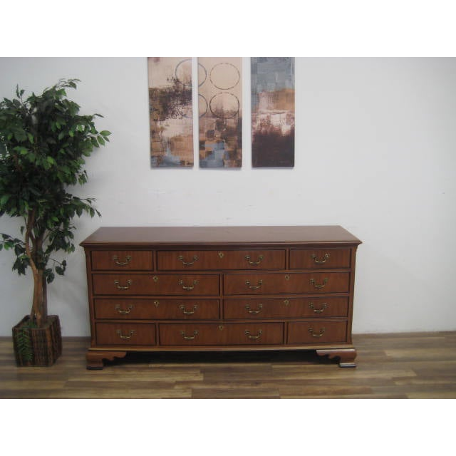 Queen Anne Style 10-Drawer Dresser by Drexel - Image 3 of 11