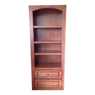 Contemporary Carved Maple Bookcase