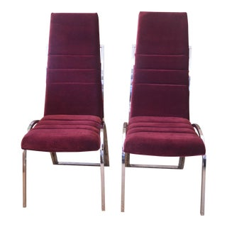 Vintage Channel Back Chairs - A Pair