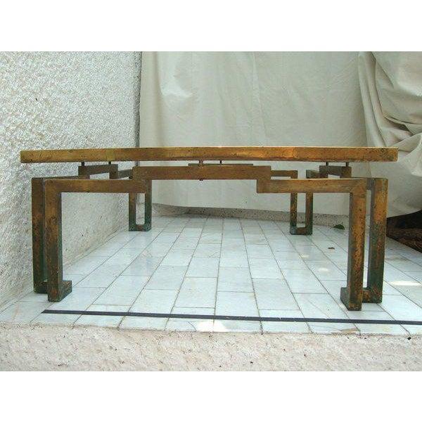 Arturo Pani Rectangular Coffee Table in Brass - Image 5 of 5