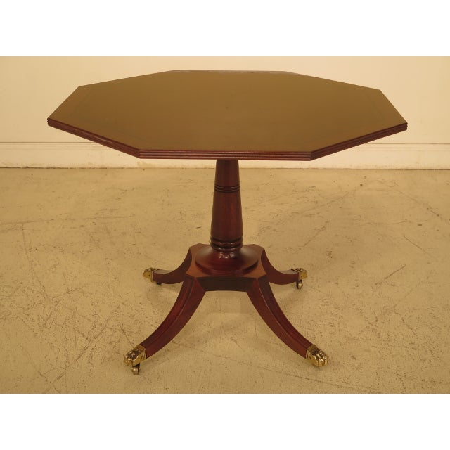 Baker Octagonal Mahogany Center or Breakfast Table - Image 9 of 9