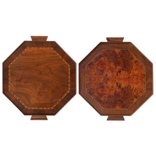 Double Sided Octagonal Serving Trays - A Pair