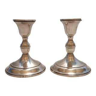 Antique Sterling Candle Sticks - A Pair