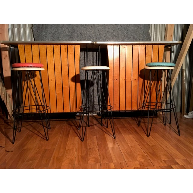 Arthur Umanoff Bar Stools - Set of 3 - Image 2 of 3