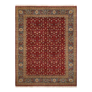 Pak-Persian Adele Red & Teal Wool Rug - 10'0 X 14'0