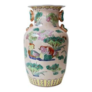 Asian-Style Waterfowl Vase