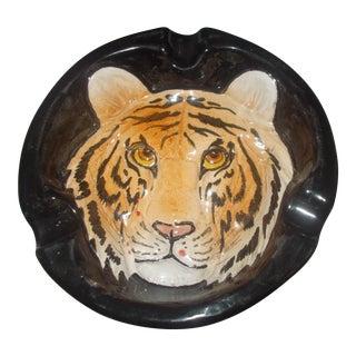 Tiger Motif Ceramic Ashtray