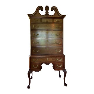 Mahogany Chippendale Style Highboy & Secretary