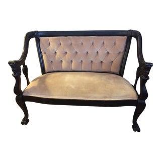Vintage Tufted Victorian Settee