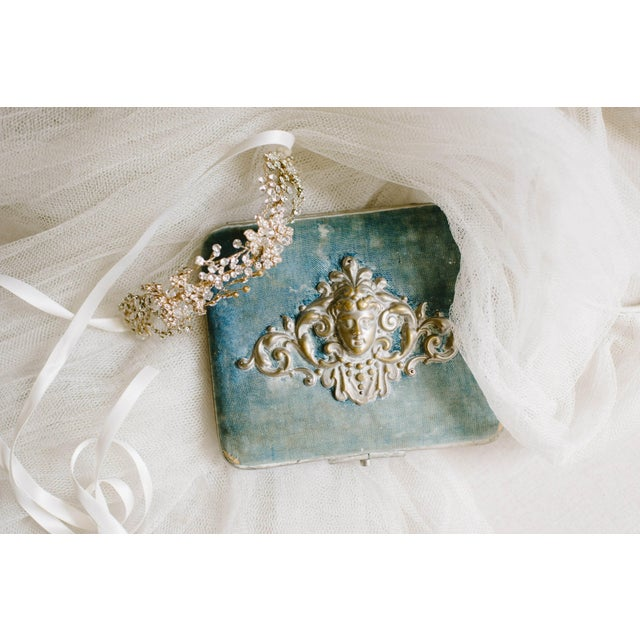 Image of Blue Necklace Box with Cherub
