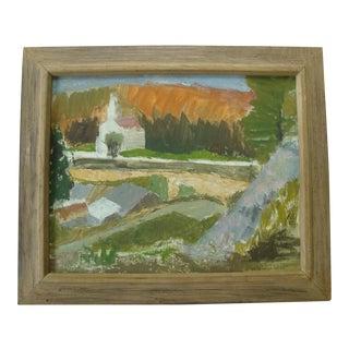 Mid-Century Modern Plein Air Autumn Landscape