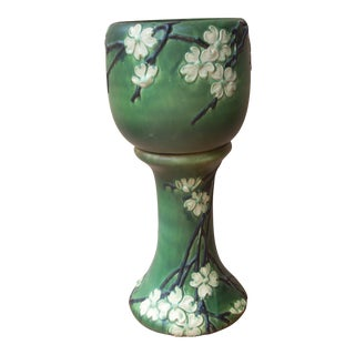 Roseville Dogwood #2 Jardiniere & Pedestal- Set of 2