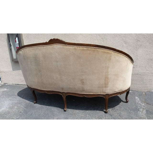 Antique French Louis XV Style Settee - Image 2 of 5