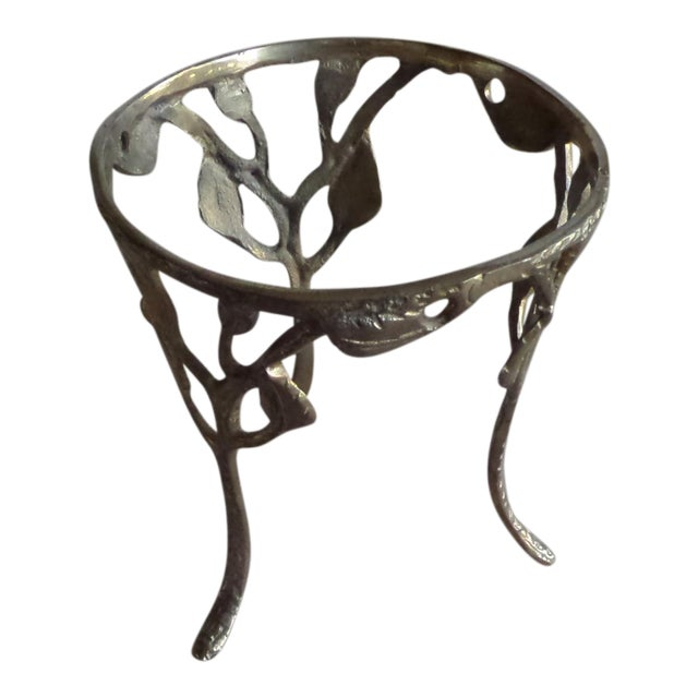 Image of Vintage Solid Brass Branch Stand