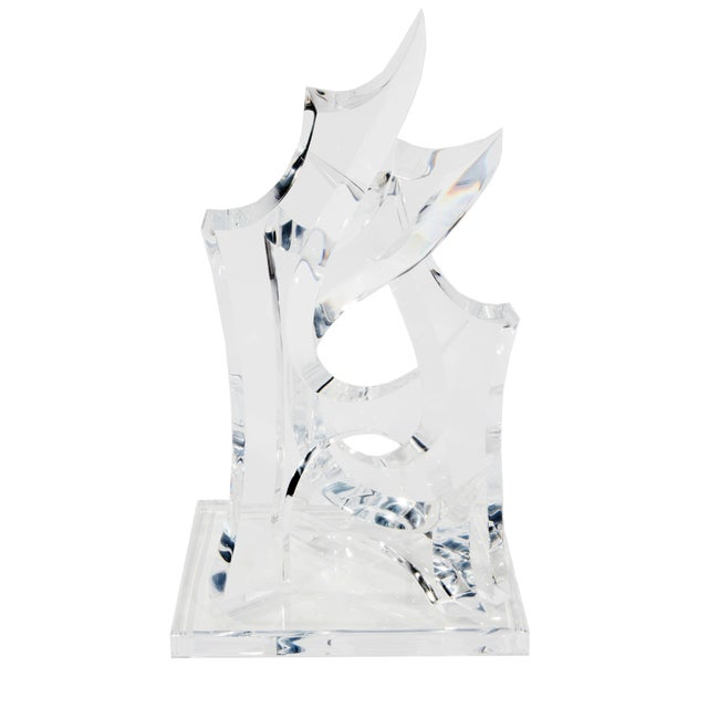 Image of 1970S ABSTRACT LUCITE SCULPTURE BY HIVO VAN TEAL