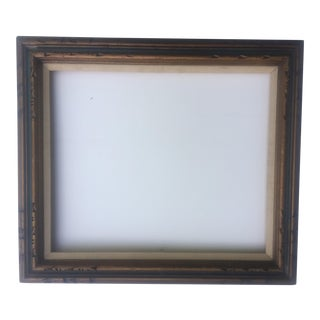 Mid Century Dark Gold Wood Frame