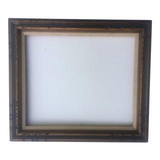 Mid Century Dark Gold Wood Frame