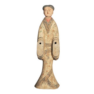 Early 20th C. Han Style Female Tomb or Funerary Pottery Figure