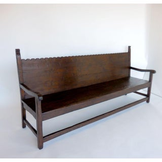 Custom Walnut Wood Scalloped Bench