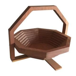 Handmade Modern Brutalist Style Collapsing Basket
