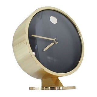Black & Gold George Nelson Desk Clock