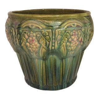 Green Ceramic Vintage Cachepot