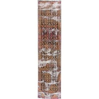 "Apadana - Vintage Distressed Persian Tabriz Rug 3'2"" x 13'5"""
