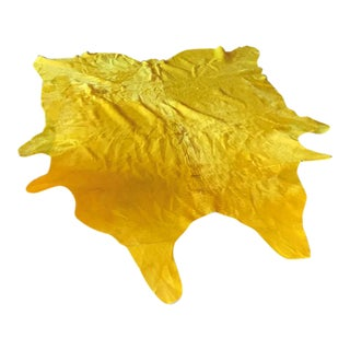 Yellow Cowhide Rug - (Large)
