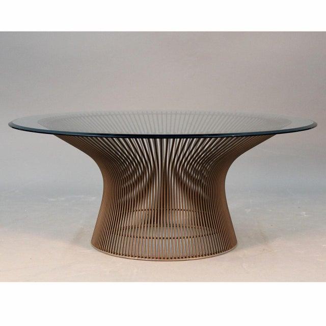 Warren Platner Original Bronze Coffee Table - Image 2 of 8