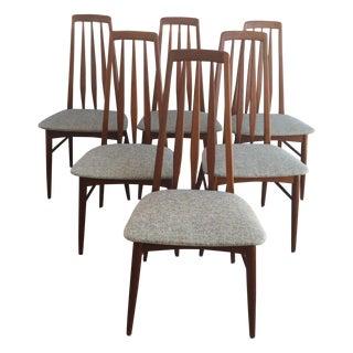 Teak Eva Dinning Chairs by Koefoeds Hornslet - 6