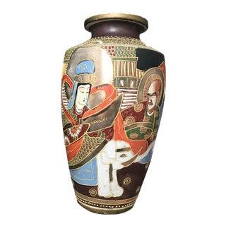 Mid-Century Monumental Satsuma Vase