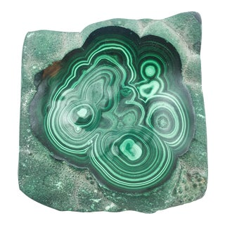 Polished Freeform Malachite Bowl