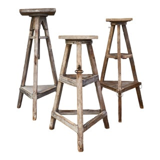 French Antique Sculpture Stands - Set of 3