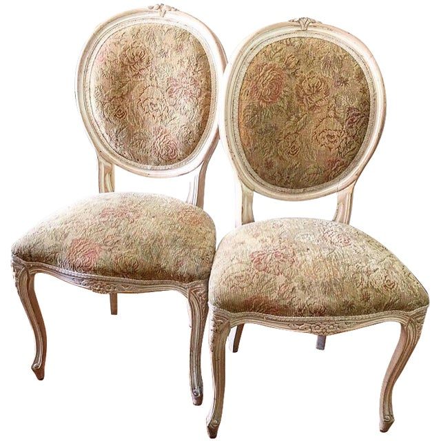 French Provincial Chairs - A Pair - Image 1 of 9